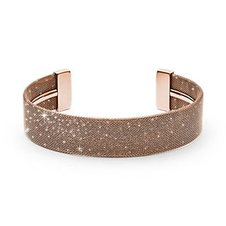Merete Rose-Tone Brilliant Mesh Bangle