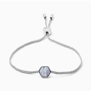 Anette Silver-Tone Mother of Pearl Bracelet