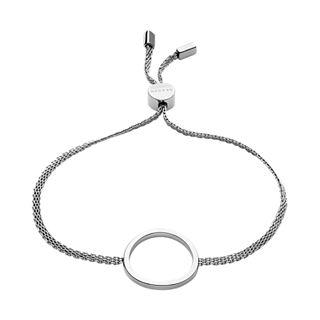 Merete Silver-Tone Circle Pendant Bracelet