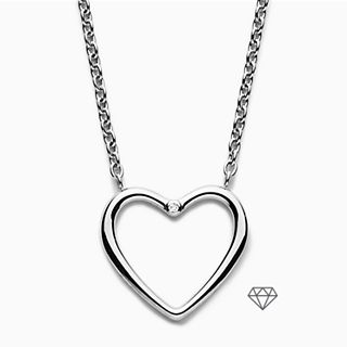 Katrine Diamond-Accented Heart Pendant Necklace