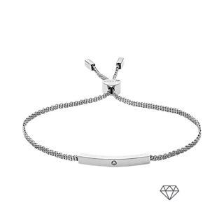 Helena Silver-Tone Genuine Diamond Mesh Bracelet