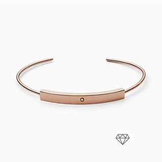 Helena Rose-Tone Genuine Diamond Bangle