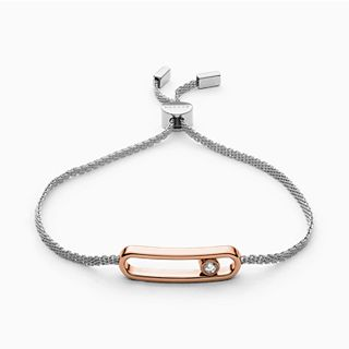 Elin Two-Tone Cubic Zirconia Bracelet