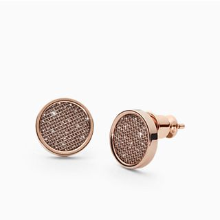 Merete Rose-Tone Stud Earrings