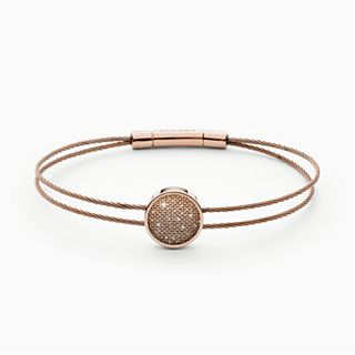 Merete Rose-Tone Brilliant Mesh Cable Bracelet