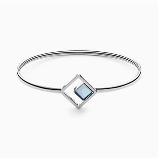 Agnethe Silver-Tone Mother-of-Pearl Square Bracelet