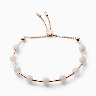 Anette Rose-Tone Rose Quartz Beaded Bracelet