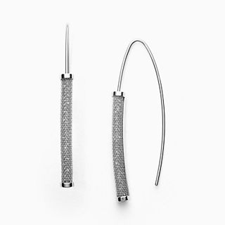 Merete Silver-Tone Brilliant Mesh Earrings
