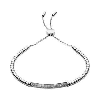 Merete Silver-Tone Brilliant Mesh Bracelet
