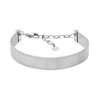 Merete Silver-Tone Silk Mesh Bracelet