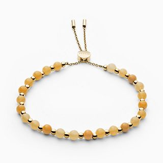 Anette Gold-Tone and Yellow Semiprecious Stone Bracelet