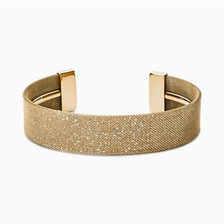 Merete Gold-Tone Mesh Bangle