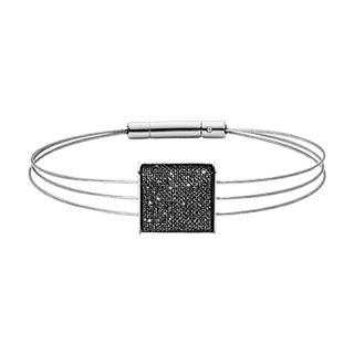 Merete Black Mesh Pendant Bracelet