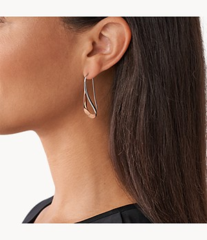 Kariana Two-Tone Loop Earrings