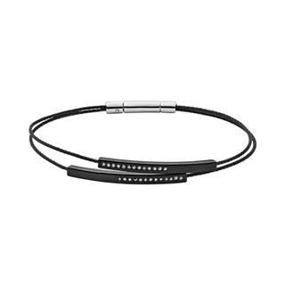 Elin Black Cable Bracelet