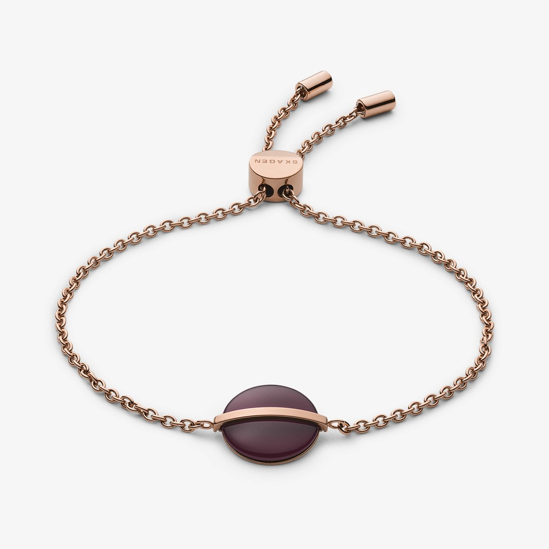 Sea Glass And Rose-Tone Bracelet  - SKJ1251791