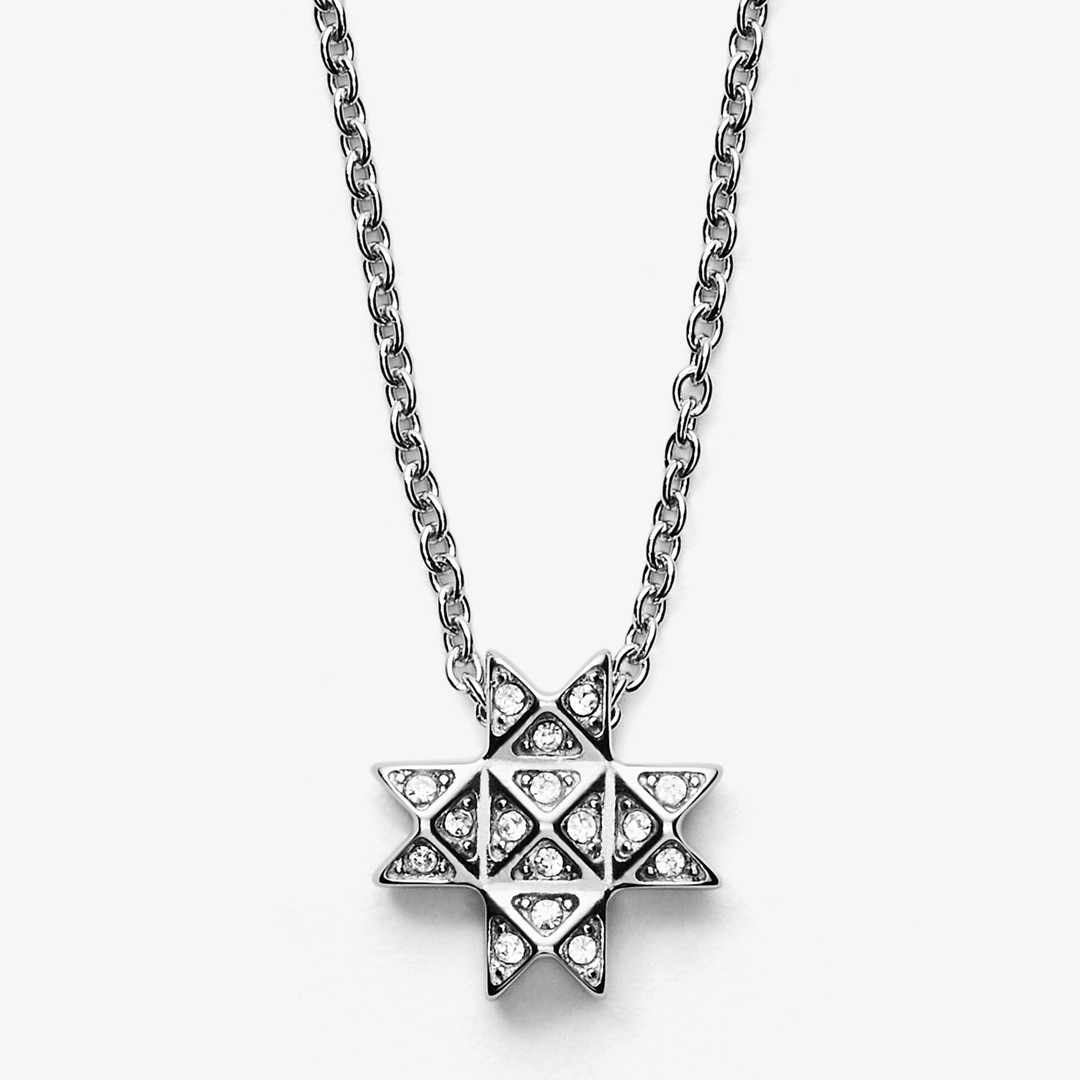 Elin Silver-Tone Stainless Steel Necklace  - SKJ1259040