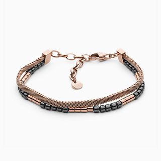 Ellen Rose-Tone Stainless Steel Bracelet