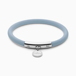 Blakely Light Blue Silicone and Silver-Tone Bracelet