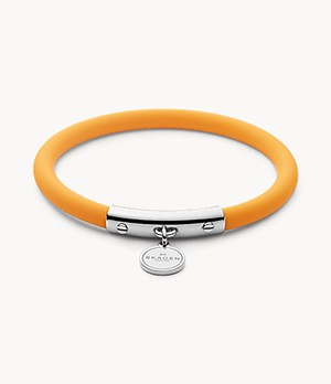 Blakely Yellow Silicone and Silver-Tone Bracelet