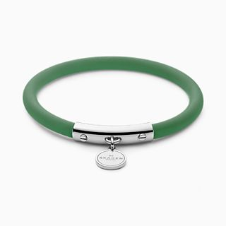 Blakely Green Silicone and Silver-Tone Bracelet