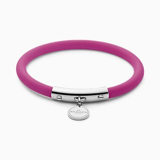Blakely Pink Silicone and Silver-Tone Bracelet