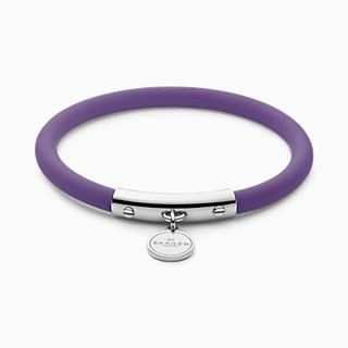 Blakely Purple Silicone and Silver-Tone Bracelet