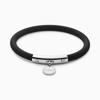 Blakely Black Silicone and Silver-Tone Bracelet
