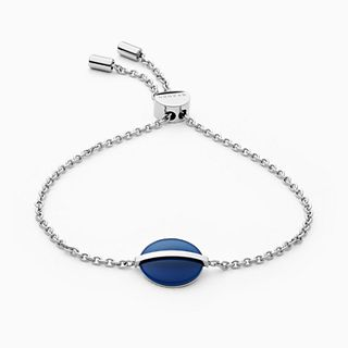 Sea Glass Silver-Tone Stainless Steel Bracelet