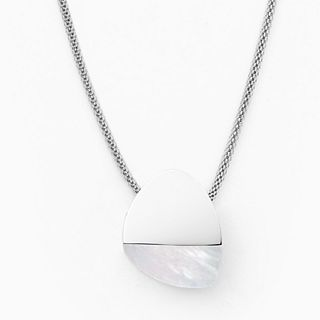 Agnethe Silver-Tone Mother-of-Pearl Necklace