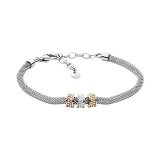 Merete Tri-Tone Stainless Steel-Mesh Bracelet
