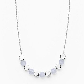 Ellen Silver-Tone Stainless Steel Necklace