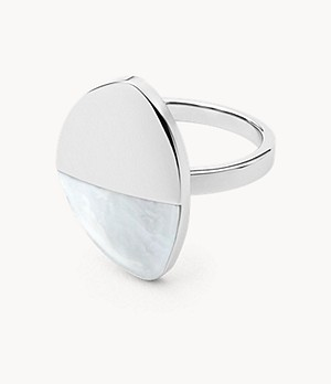 Agnethe Silver-Tone Mother-of-Pearl Ring