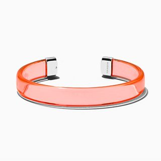 Blakely Transparent Orange Lucite Bracelet