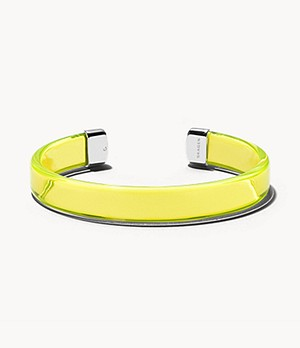 Blakely Transparent Yellow Lucite Bracelet