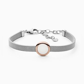 Sea Glass Two-Tone Steel-Mesh Bracelet