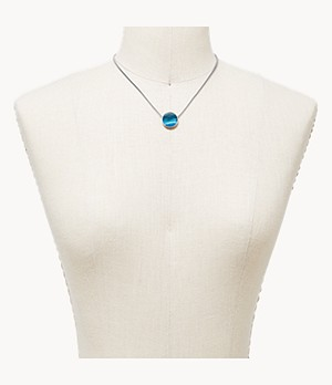 Agnethe Silver-Tone Stainless Steel and Mother-of-Pearl Necklace