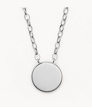 Elin Silver-Tone Stainless Steel Necklace