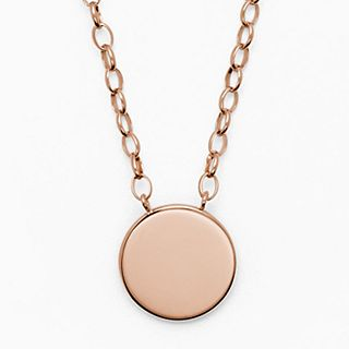 Elin Rose-Tone Stainless Steel Necklace