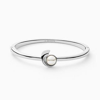 Agnethe Silver-Tone Stainless Steel and Faux Pearl Bracelet