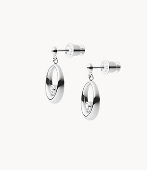Elin Silver-Tone Stainless Steel Drop Earrings