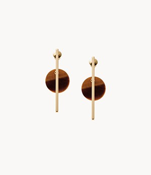 Ellen Gold-Tone Semi-Precious Drop Earrings