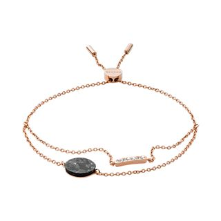 Ellen Rose-Tone Stainless Steel and Marble Bracelet