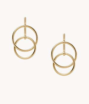Elin Gold-Tone Stainless Steel Drop Earrings