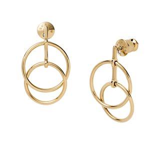Elin Gold-Tone Stainless Steel Drop Earrings