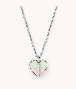 Katrine Silver-Tone Mother-of-Pearl Pendant Necklace