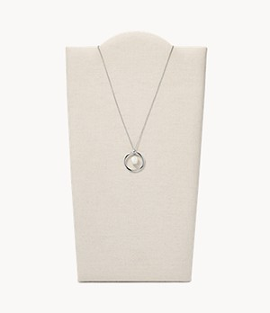 Agnethe Silver-Tone Freshwater Pearl Pendant Necklace