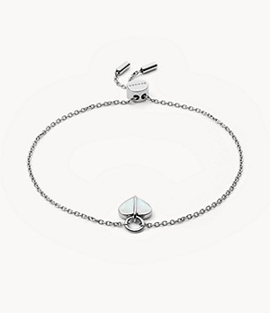 Katrine Silver-Tone Mother-of-Pearl Chain Bracelet