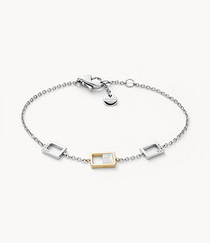 Agnethe Two-Tone Mother-of-Pearl Chain Bracelet