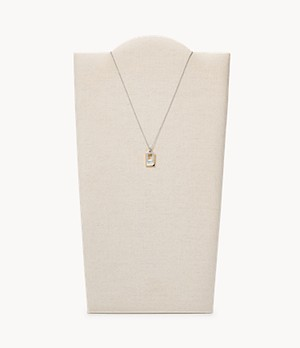 Agnethe Two-Tone Mother-of-Pearl Pendant Necklace
